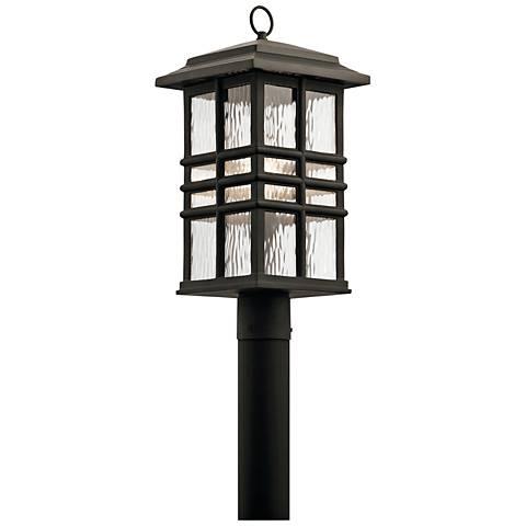 Kichler beacon square 20 1 2 high bronze outdoor post light