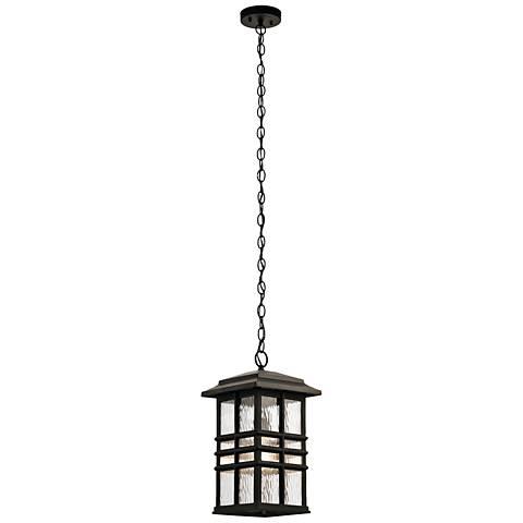 "Kichler Beacon Square 18""H Bronze Outdoor Hanging Light"