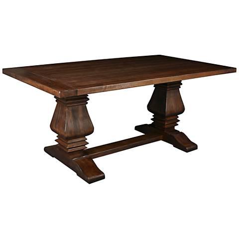 Toscana Small Rectangular Cognac Wood Dining Table
