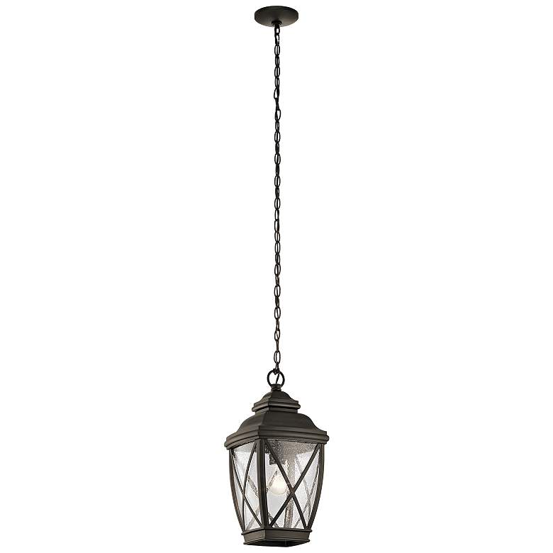 "Kichler Tangier 18 3/4""H Olde Bronze Outdoor Hanging Light"