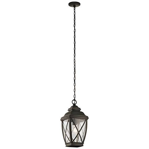 "Kichler Tangier 18 3/4""H Olde Bronze Outdoor Hanging Light"
