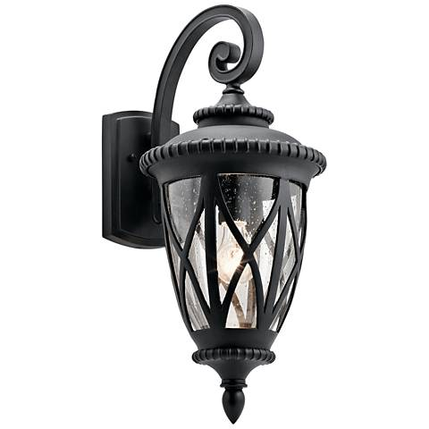 "Kichler Admirals Cove 23 1/2"" High Black Outdoor Wall Light"