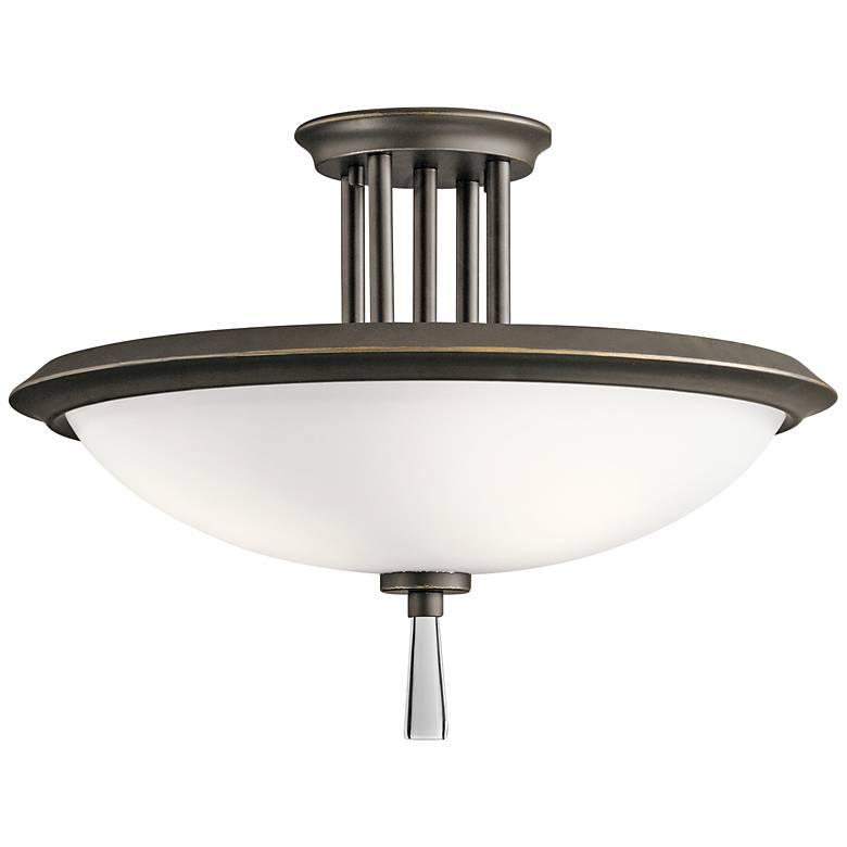 """Kichler Dreyfus 16 1/2"""" Wide Olde Bronze Ceiling Light"""