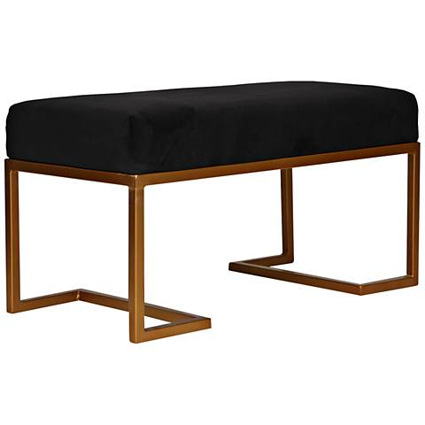 Ella Black Velvet Glam Bench