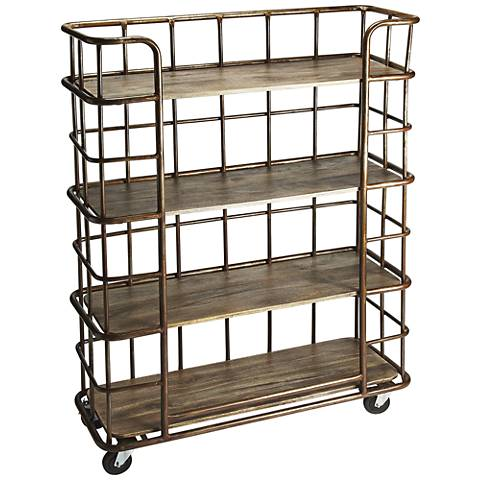 Butler Antioch Metal and Distressed Wood 5-Shelf Etagere