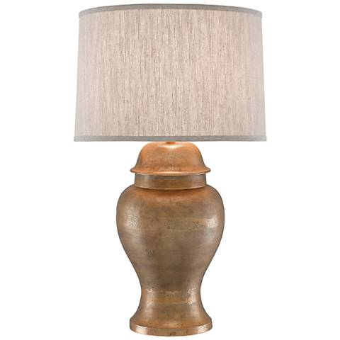 Currey and Company Irene Antique Gold Metal Table Lamp