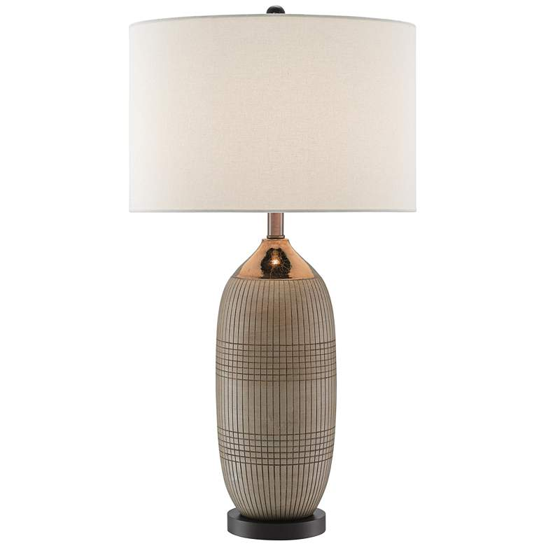 Currey and Company Alexander Gold Glaze Ceramic Table Lamp
