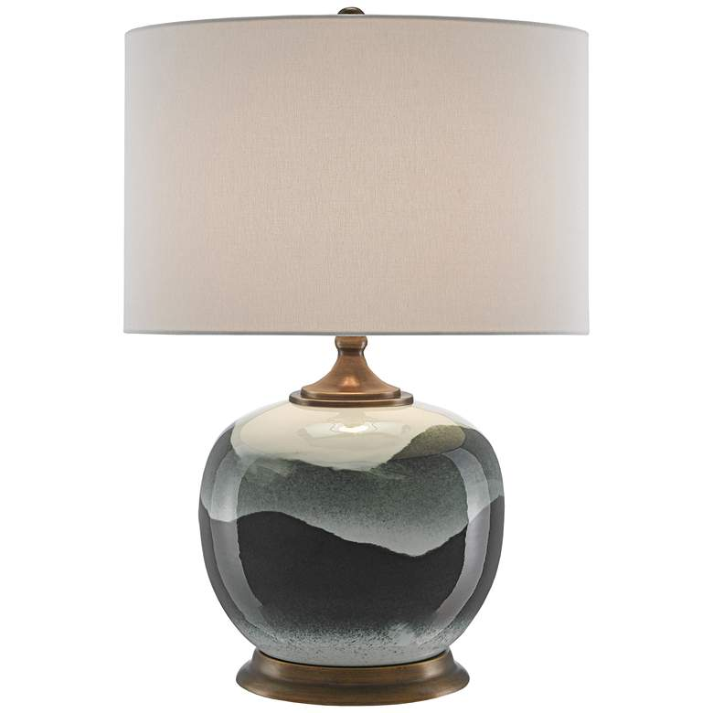 Boreal White and Green Porcelain Table Lamp