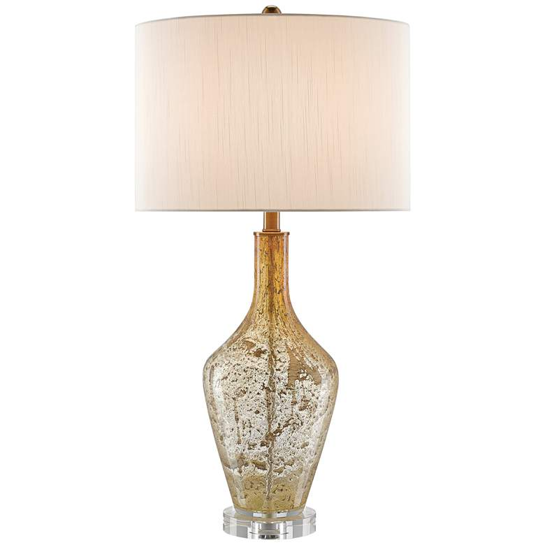Habib Champagne Speckled Glass Modern Twist Glass Table Lamp