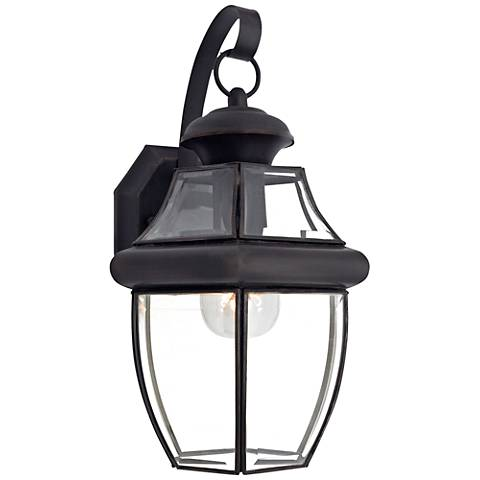 "Quoizel Newbury 14"" High Bronze Medium Outdoor Wall Light"