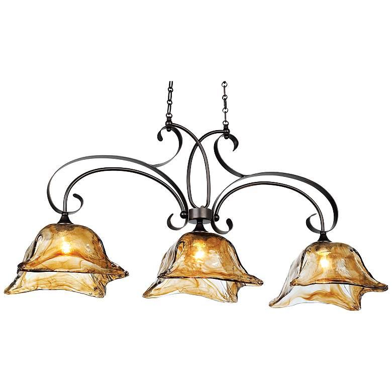 """Vetraio 47""""W Oiled Bronze Kitchen Island Light Chandelier"""