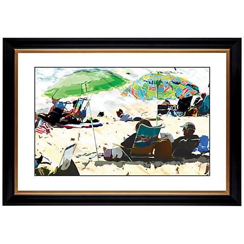 "Giclee Sun and Sand 41 3/8"" Wide Wall Art"