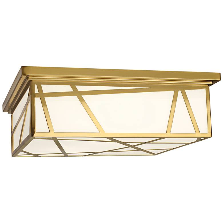 """Michael Berman Bond 17 1/2"""" Wide Modern Brass Ceiling Light"""