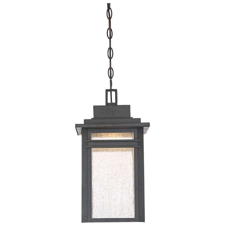 "Quoizel Beacon 17""H Stone Black LED Outdoor Hanging Light"
