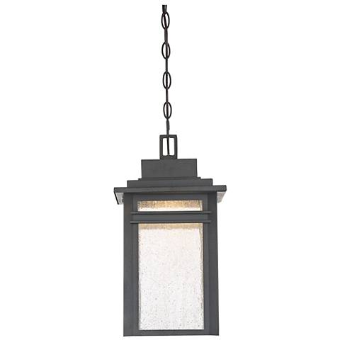 "Quoizel Beacon 17""H Stone Black LED Outdoor Hanging Light"