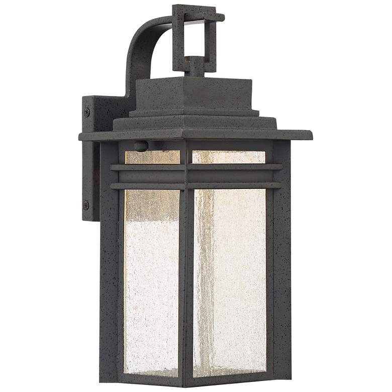 """Quoizel Beacon 12 3/4"""" High Black LED Outdoor Wall Light"""