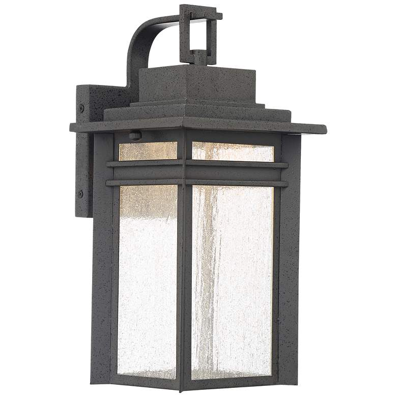"""Quoizel Beacon 14 3/4"""" High Black LED Outdoor Wall Light"""