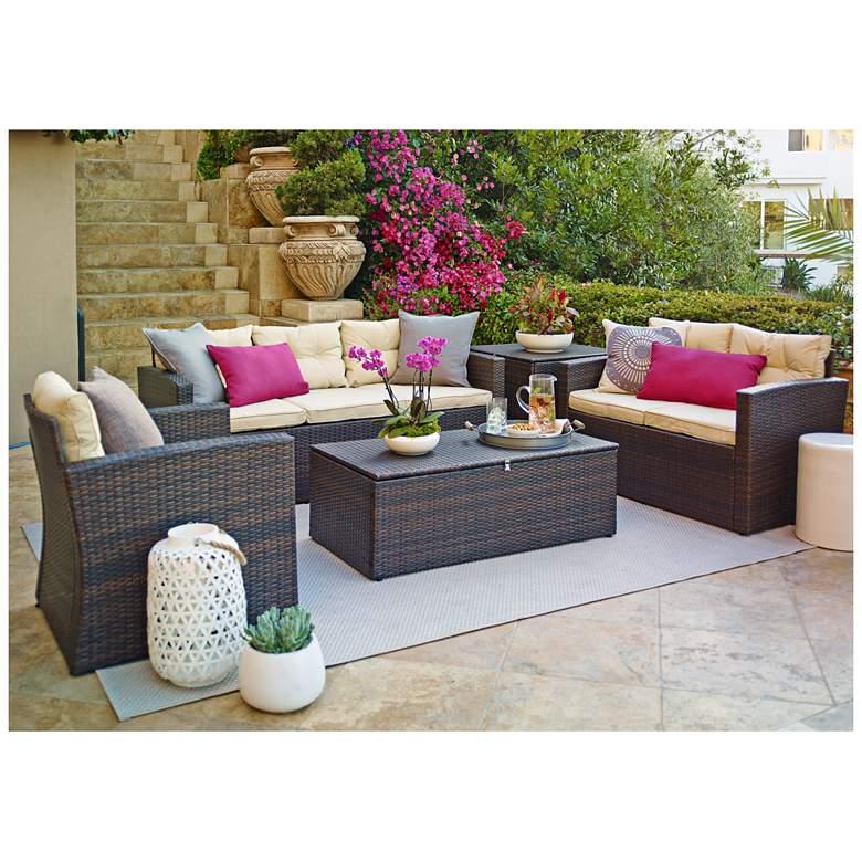 Cascaden Brown Wicker 5-Piece Outdoor Patio Set with