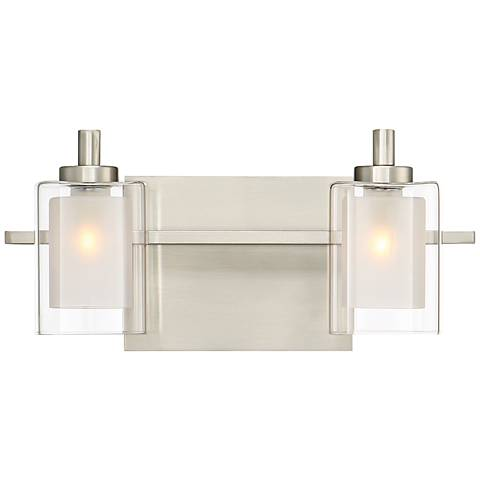 "Quoizel Kolt 6"" High Brushed Nickel LED Wall Sconce"