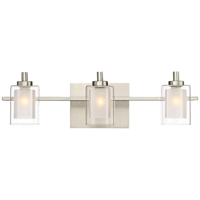 """Quoizel Kolt 21"""" Wide Brushed Nickel LED Bath Light"""