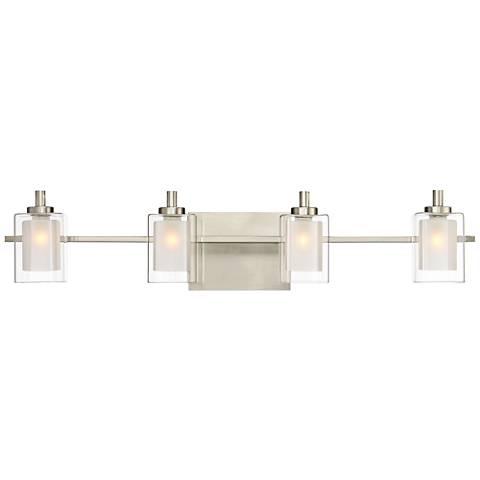"""Quoizel Kolt 29"""" Wide Brushed Nickel LED Bath Light"""