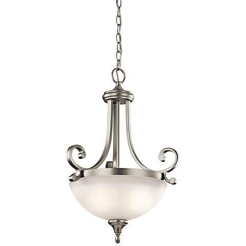 "Kichler Monroe 17 1/2""W Brushed Nickel 2-Light LED Pendant"