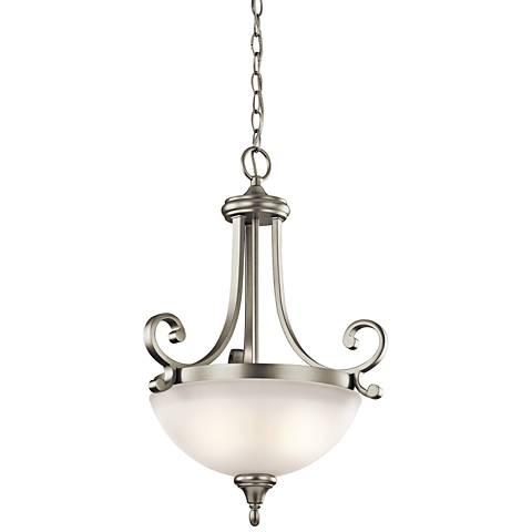 """Kichler Monroe 17 1/2""""W LED Brushed Nickel 2-Light Pendant"""