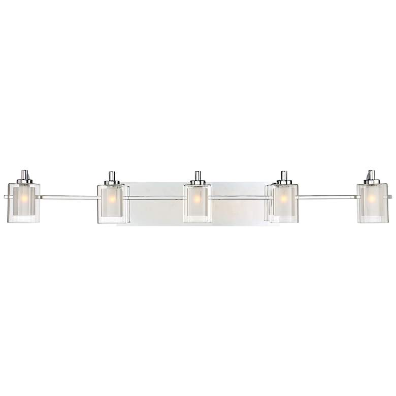 "Quoizel Kolt 42"" Wide Polished Chrome LED Bath Light"