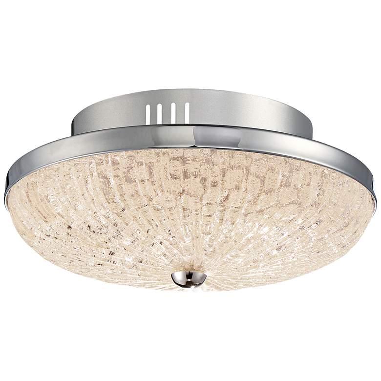 "Quoizel Moon Rays 12"" Wide Polished Chrome LED Ceiling Light"