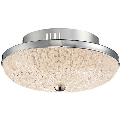 Quoizel moon rays 12 wide polished chrome led ceiling light