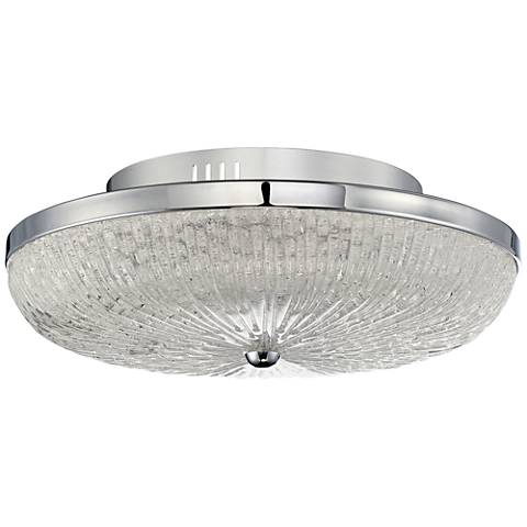 "Quoizel Moon Rays 16"" Wide Polished Chrome LED Ceiling Light"