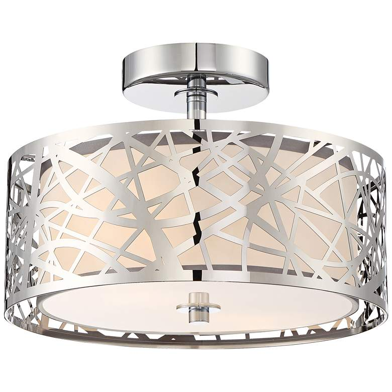 """Platinum Collection Abode 12""""W Polished Chrome Ceiling Light"""