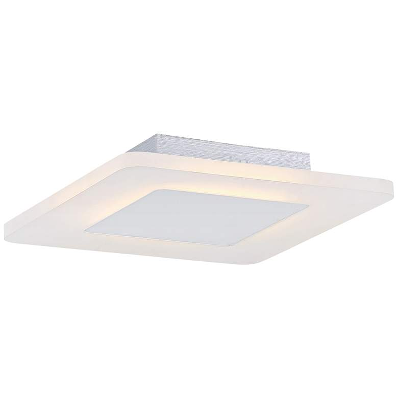 "Platinum Collection Aglow 11"" Wide White LED Ceiling Light"