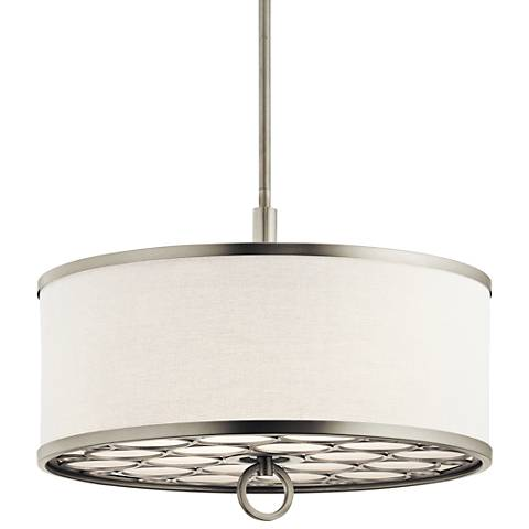 "Kichler Melrose 18"" Wide Nickel 3-Light Convertible Pendant"