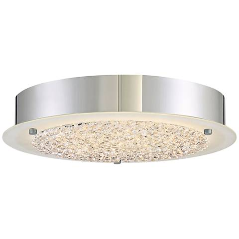 "Platinum Collection Blaze 12 1/4""W Chrome LED Ceiling Light"