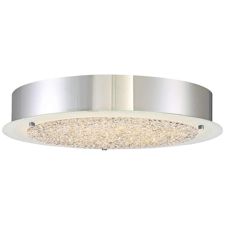 "Platinum Collection Blaze 16"" Wide Chrome LED Ceiling Light"