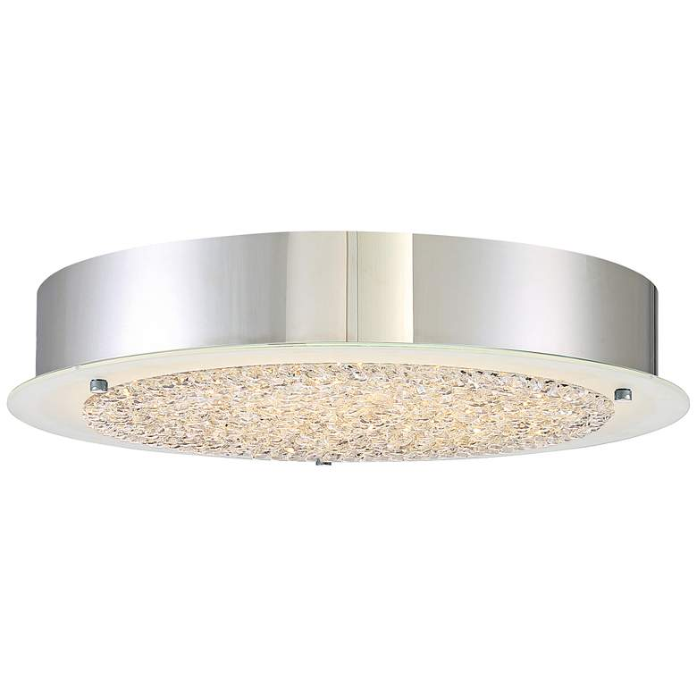 "Platinum Collection Blaze 16"" Wide Chrome LED Ceiling Light"