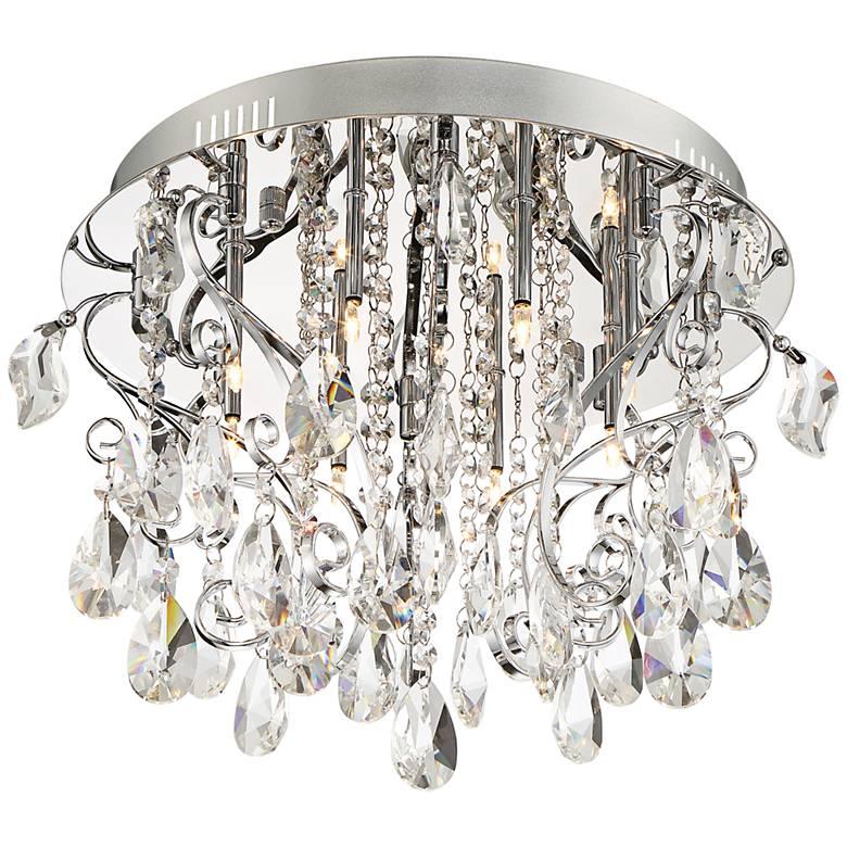 "Platinum Collection Enrapture 18"" Wide Chrome Ceiling Light"