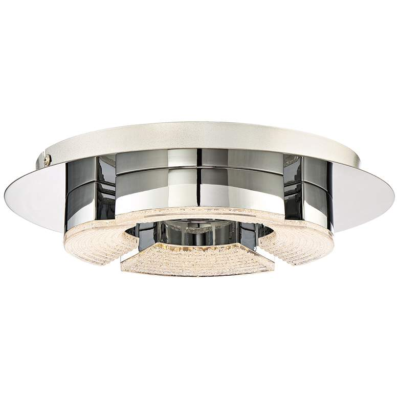 "Platinum Lunette 11 3/4"" Wide Chrome LED Ceiling Light"