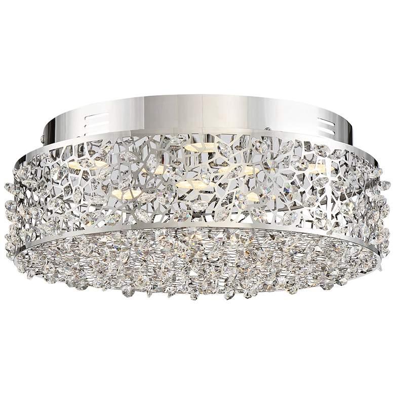"""Quoizel Platinum Starlet 13 3/4""""W Chrome LED Ceiling Light"""
