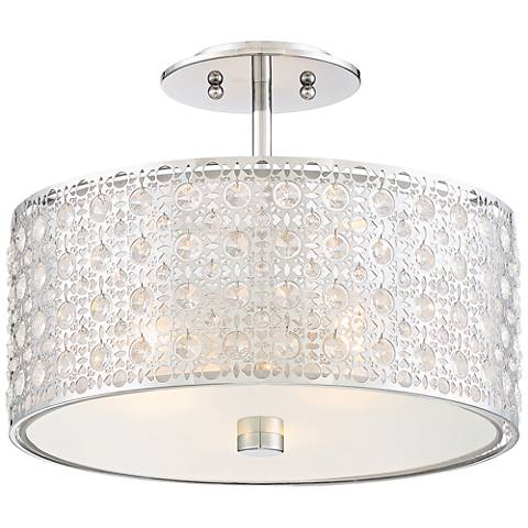 "Quoizel Platinum Collection Verity 15""W Chrome Ceiling Light"