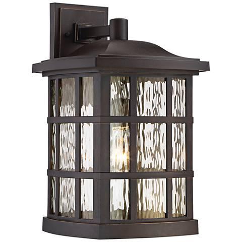 "Quoizel Stonington 17"" High Bronze Outdoor Wall Light"