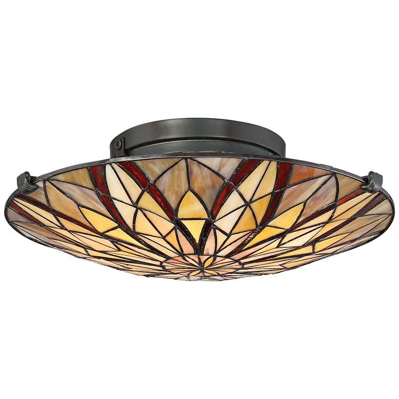 "Quoizel Victory 16 1/4"" Wide Valiant Bronze Ceiling Light"