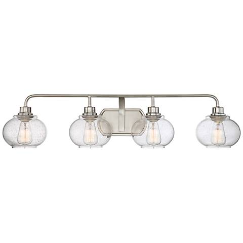 "Quoizel Trilogy 36 1/4"" Wide Brushed Nickel Bath Light"