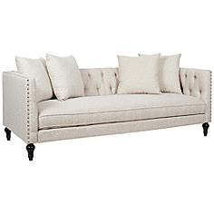 Jennifer Taylor Stanbury Oyster Tuxedo Sofa with Throw Pillows