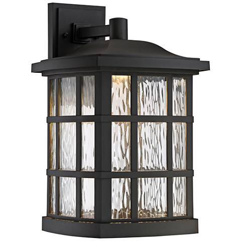 "Quoizel Stonington 17"" High Black LED Outdoor Wall Light"