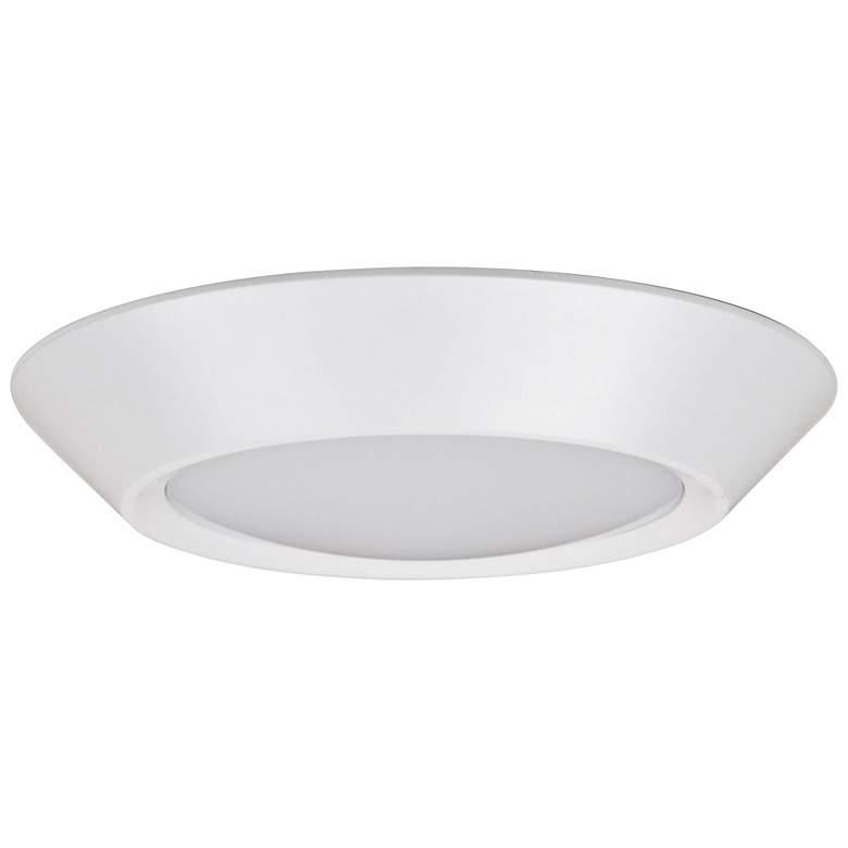 """Dolan 7"""" Wide White 17-Watt LED Compact Ceiling Light"""