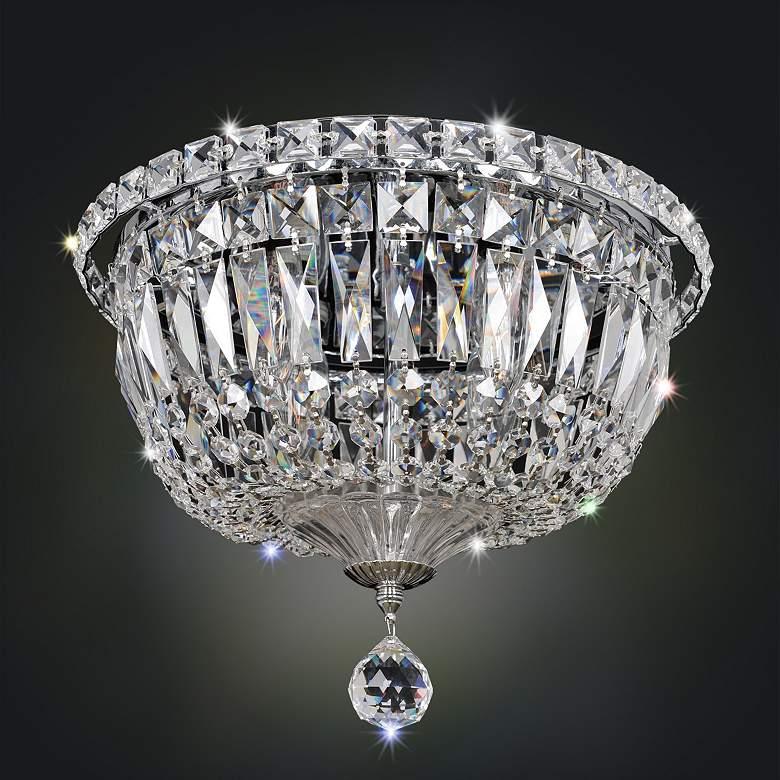 "Allegri Betti 12"" Wide Chrome Crystal Ceiling Light"