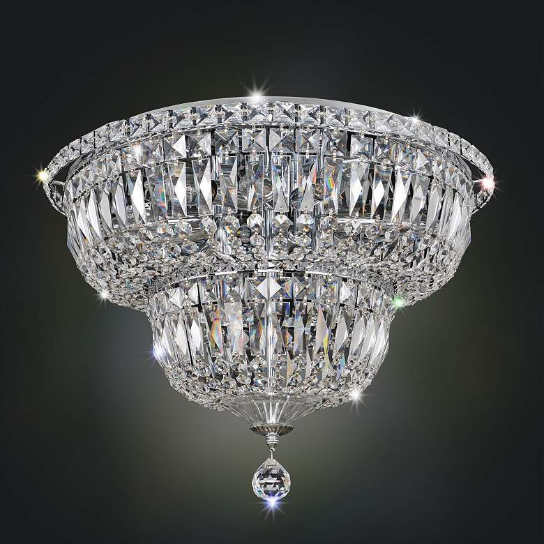 "Allegri Betti 18"" Wide Chrome Crystal Ceiling Light"