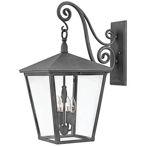 """Trellis 26 1/4"""" High Aged Zinc 4-Light Outdoor Wall Light"""